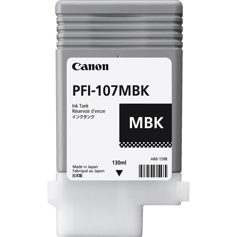 Canon Original - Tinte matt schwarz PFI-107MBK