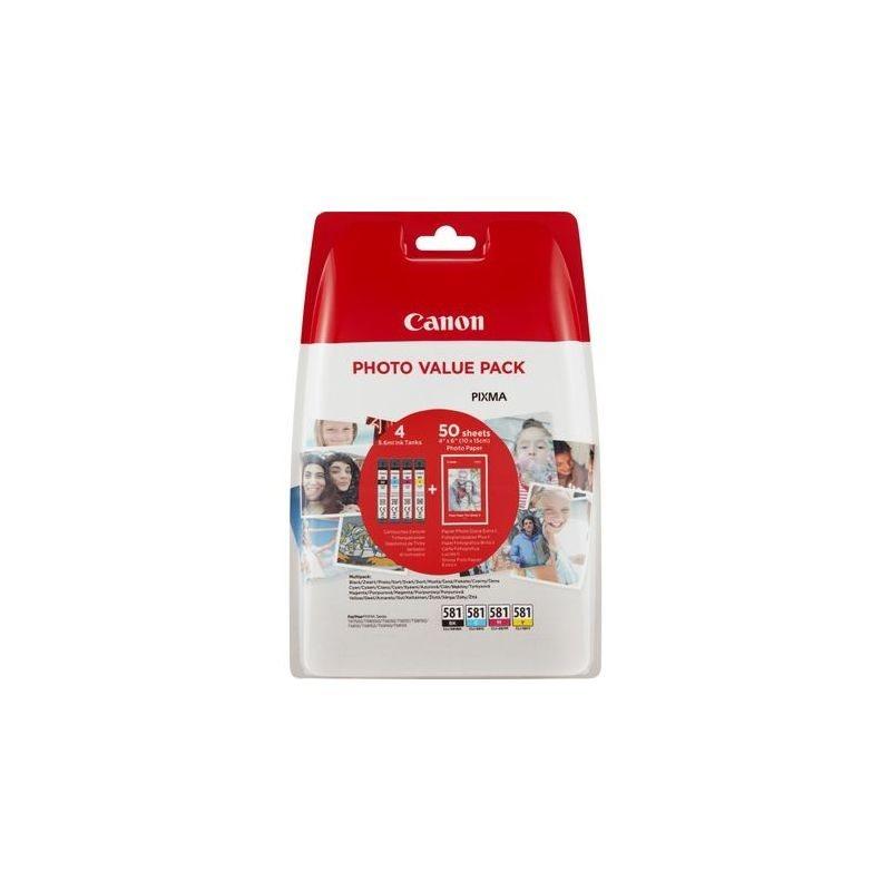 Canon Original Tinte Photo Value Pack CMYBK CLI-581 - 2106C005