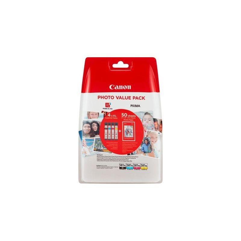 Canon Original XL Tinte Photo Value Pack CMYBK CLI-581XL - 2052C004
