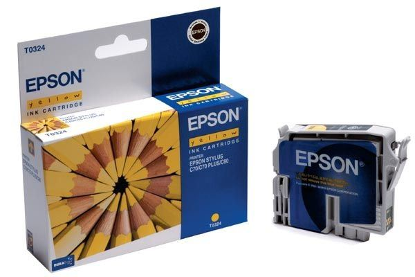 EPSON Farbtintenpatrone für Stylus C80, gelb