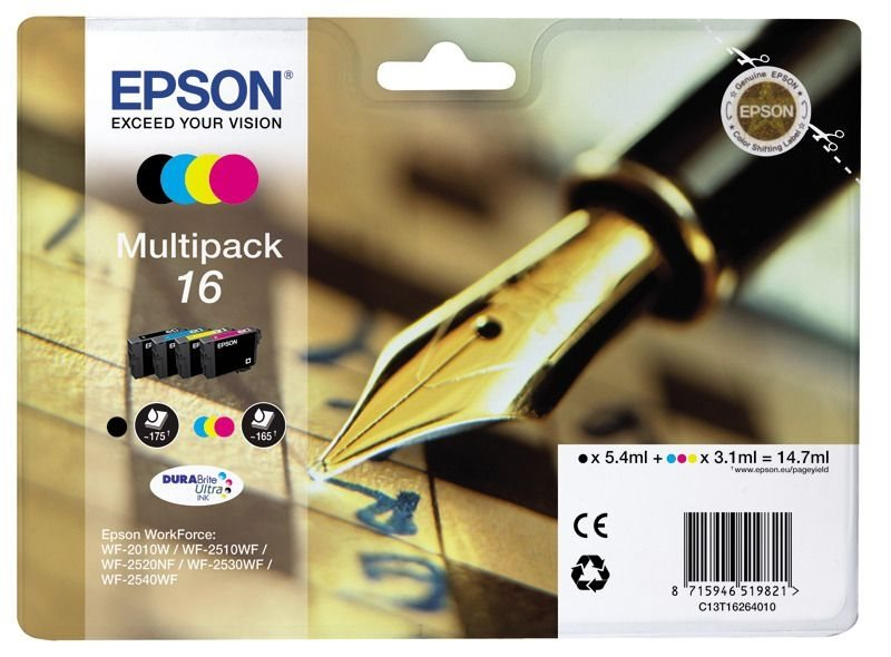 Epson Multipack 4 Farben 16 Ultra Ink T1626