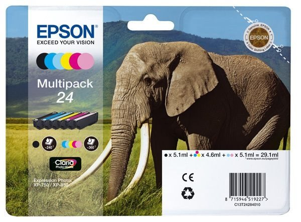 Epson Multipack 6 Farben 24 Claria T2428