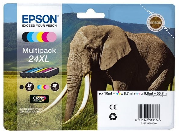 Epson Multipack 6 Farben 24XL Claria T2438