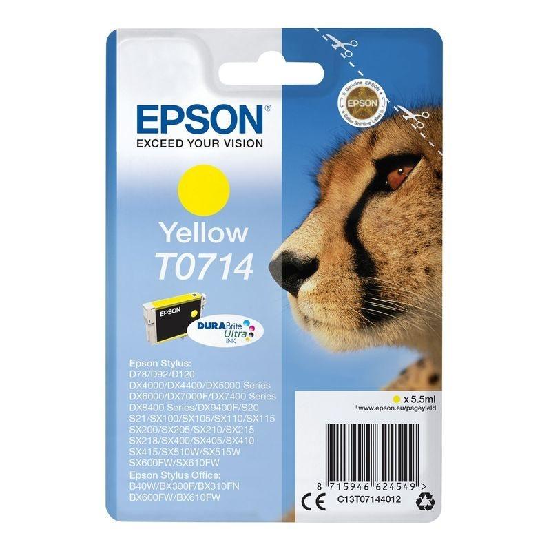 Epson Original Tinte gelb T0714 - C13T07144012