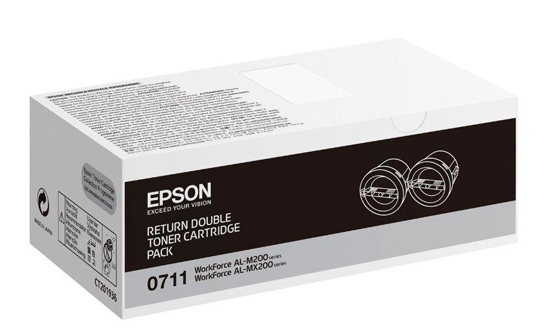 Epson Rückgabe Toner-Doppelpack - C13S050711