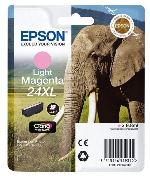 Epson Singlepack Light magenta 24XL Claria T2436