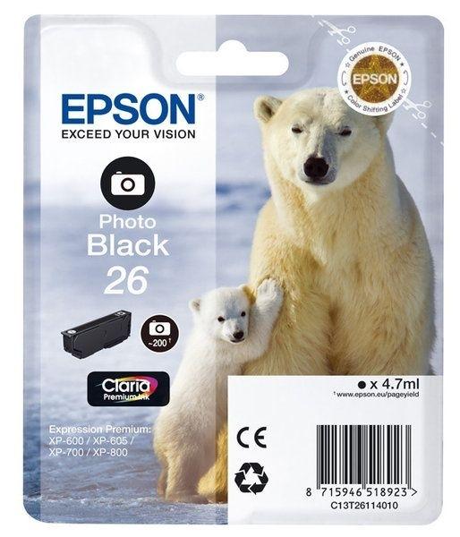 Epson Singlepack Photo schwarz 26 Claria T2611