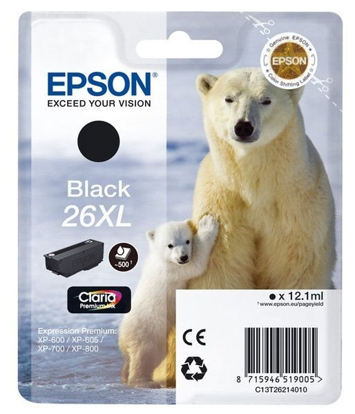 Epson Singlepack schwarz 26XL Claria T2621