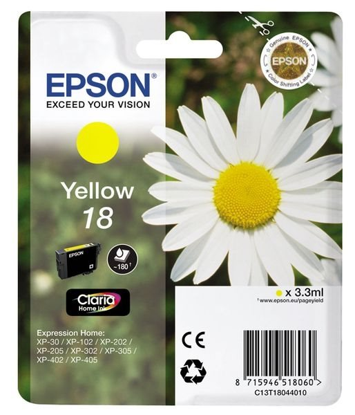 Epson Tinte gelb 18 Claria Home Ink T1804