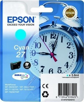 Epson Tintenpatrone cyan  -  C13T27024010