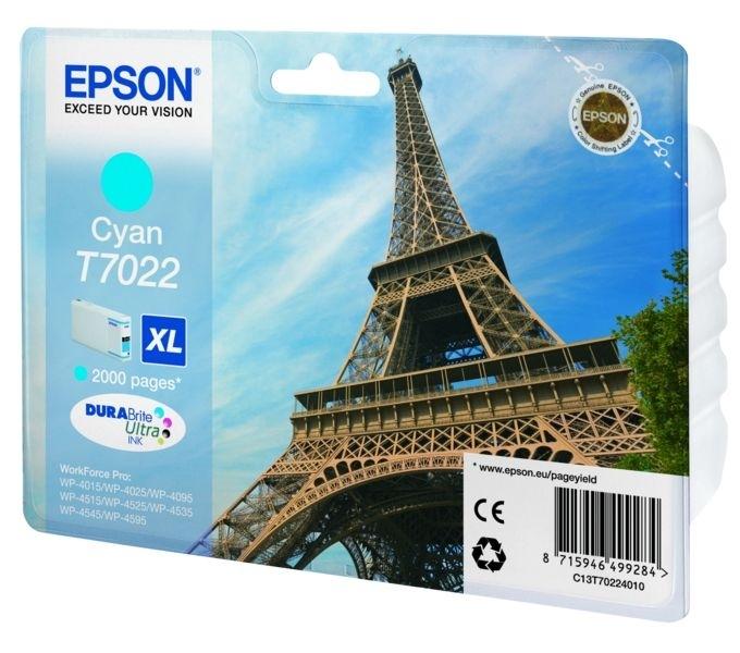 Epson Tintenpatrone cyan XL , T70224010