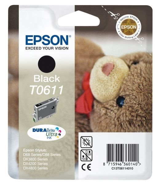 Epson Tintenpatrone schwarz, T061140