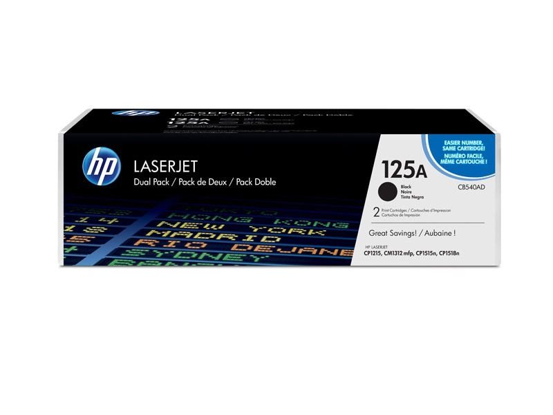 HP 125A original 2er-Pack Toner schwarz - CB540AD