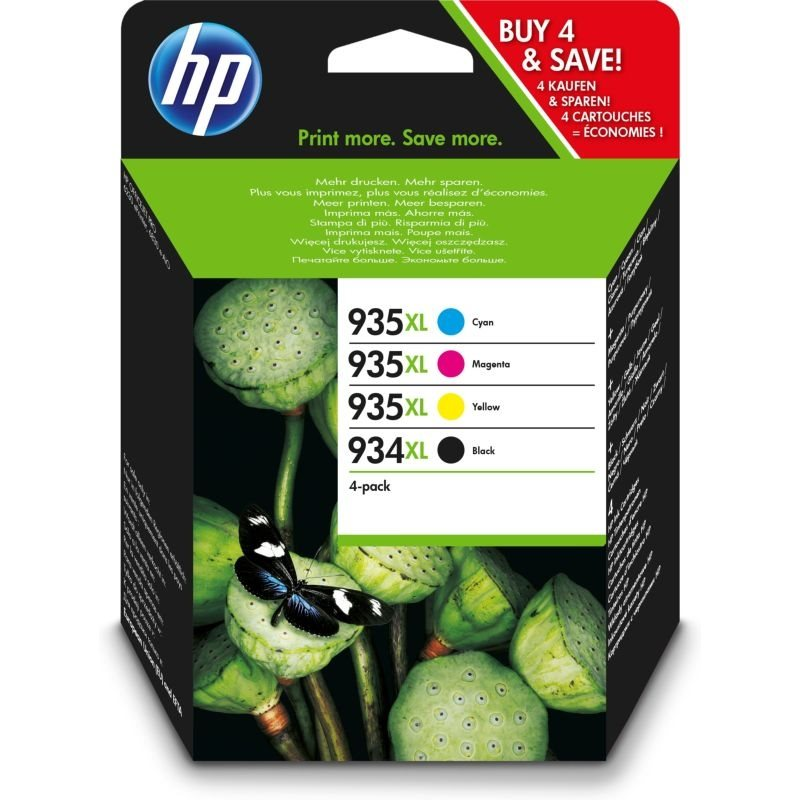 HP 934XL/935XL Original HC Tinten Multipack BKCMY - X4E14AE