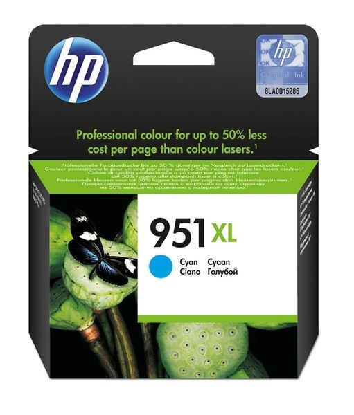 HP 951XL original HC Tinte cyan - CN046AE