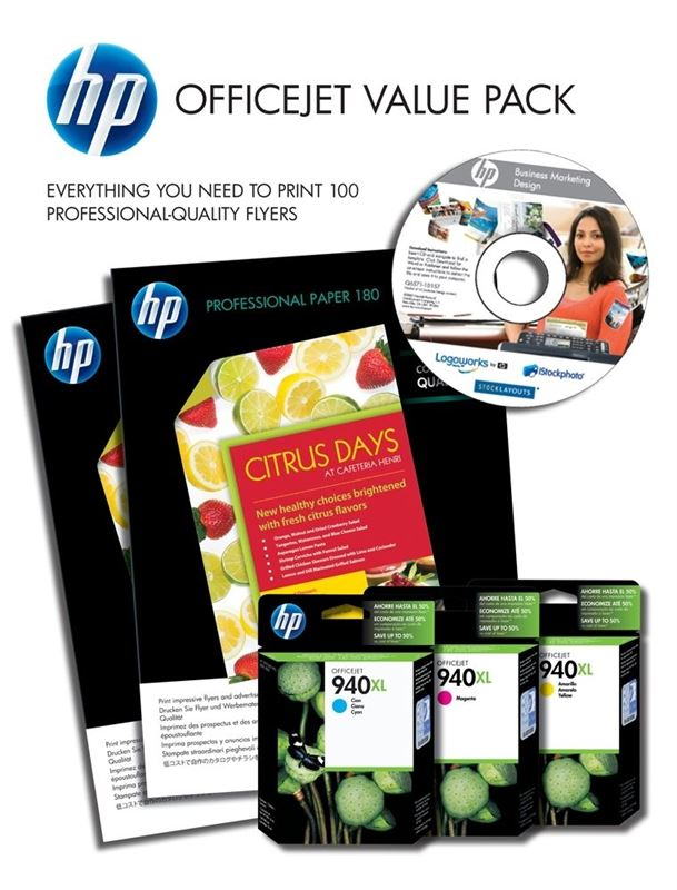 HP Brochure Value Pack 940XL für Pro8000, CG898AE