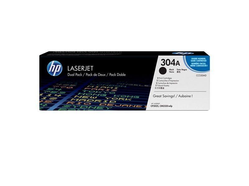 HP Druckkassette schwarz 2er-Pack für CP2025