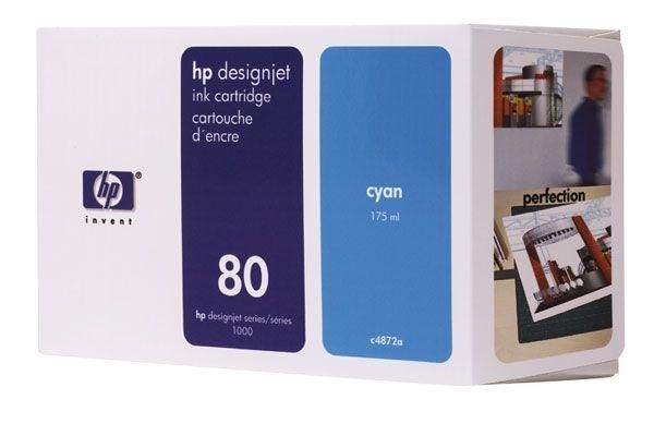 HP Tinte Nr. 80 für DJ 1050 cyan  - C4872A