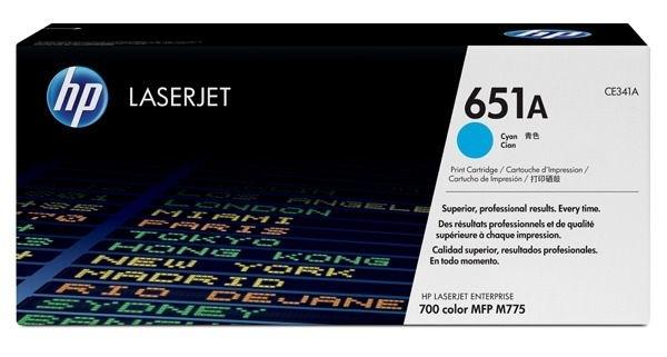 HP Toner cyan HP 651A, CE341A