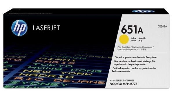 HP Toner gelb HP 651A, CE342A