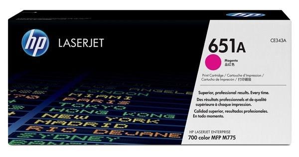 HP Toner magenta HP 651A, CE343A