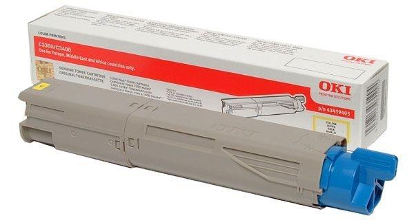 Oki Toner gelb für C3450N/C3400N/C3300N, 43459329