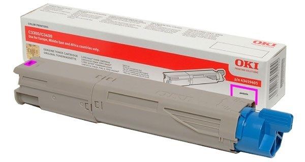 Oki Toner magenta - C3450N/C3400N/C3300N, 43459330