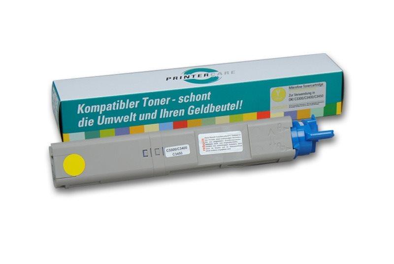 PrinterCare Toner HC gelb - C3300/3400/3450-Y
