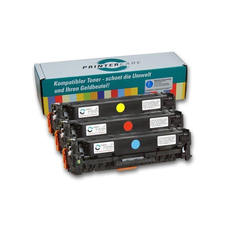 PrinterCare Tonerpaket für PC-CLJCP2025-CMY