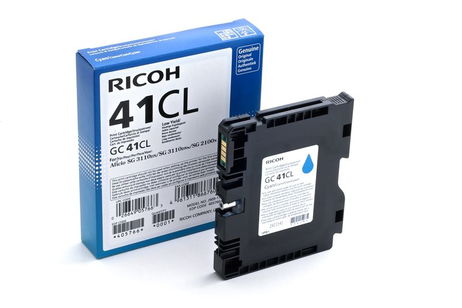 Ricoh Gel-Kartusche cyan , 405766