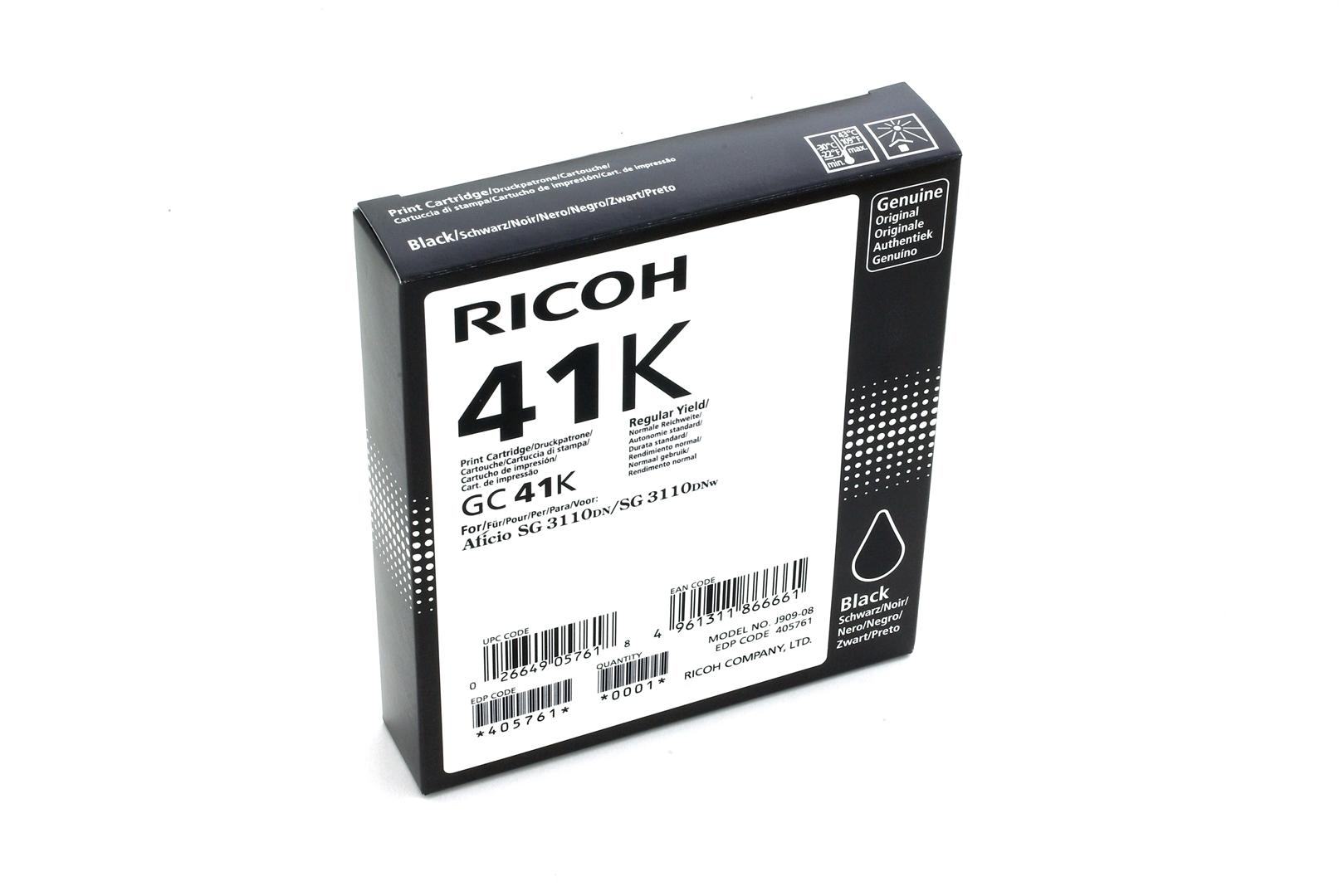 Ricoh Gel-Kartusche schwarz HC , 405761