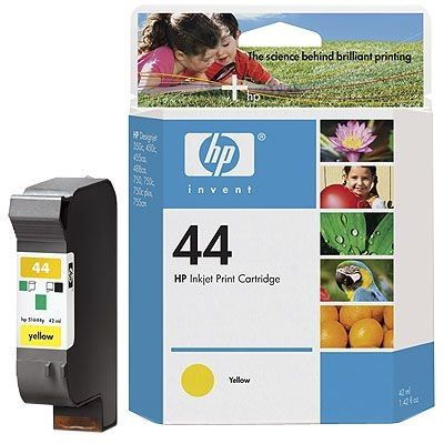 44 HP DesignJet 455 CA 24 Inch Original HP 51644YE Yellow Ink Cartridge