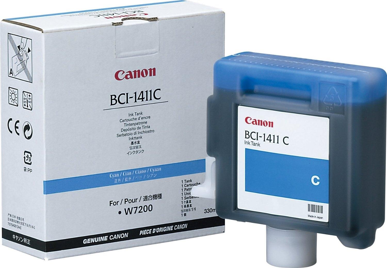BCI-1411C  -  Tintenpatrone cyan für Canon W7200