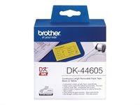 Brother Original - Etikettenrolle gelb 6,2cm x 30,