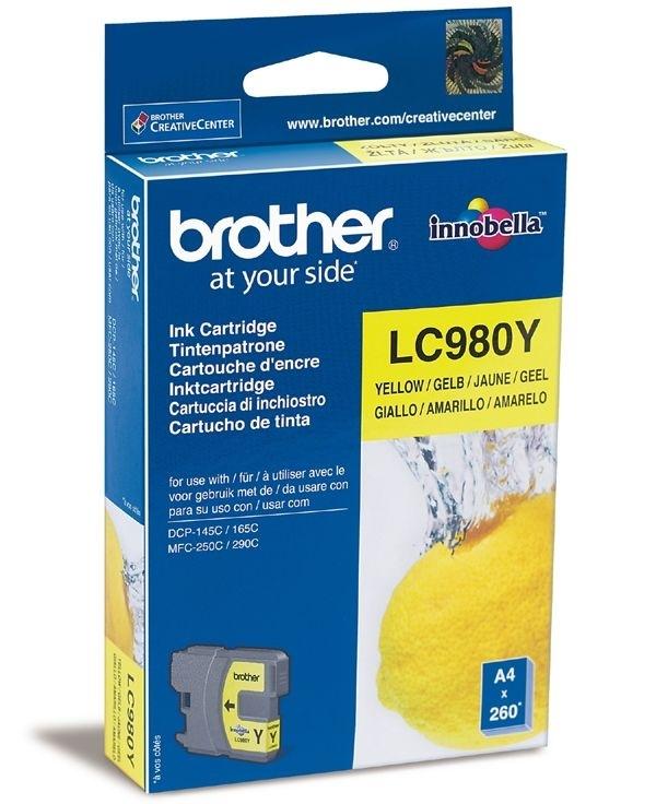 Brother Tinte gelb für DCP-145C, LC-980Y