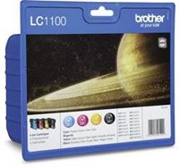 Brother Tinte Valuepack (BK+CMY) , LC1100PACK