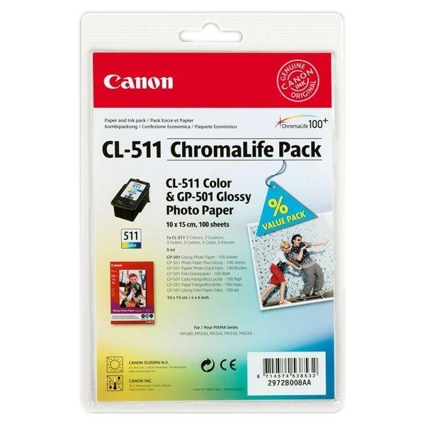 Canon Chromalife Pack C/M/Y + GP-501 (2972B008)