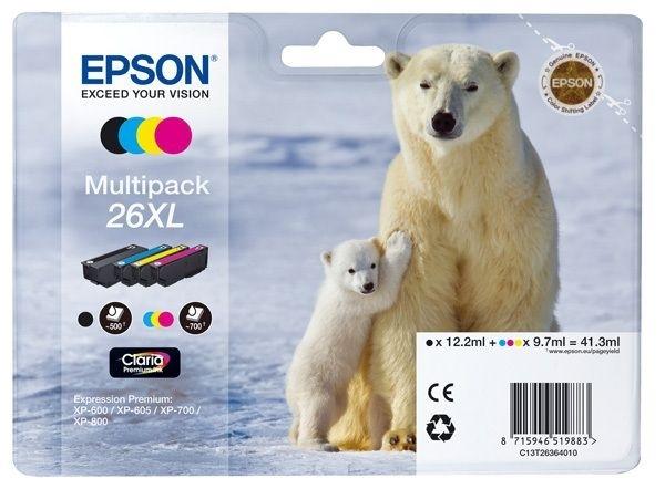 Epson Multipack 4 Farben 26XL Claria T2636