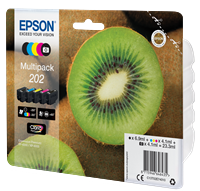Epson Original Multipack Photo BK/BK/C/M/Y 202 Claria Premium Ink