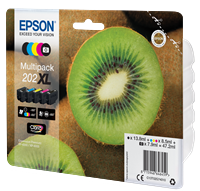 Epson Original Multipack Photo BK/BK/C/M/Y 202XL Claria Premium Ink