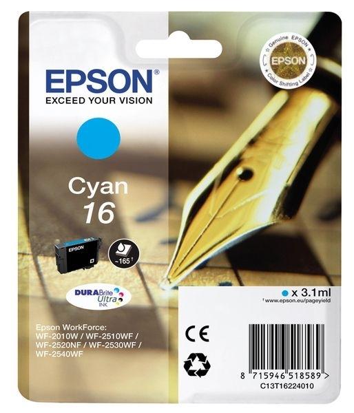 Epson Singlepack cyan 16 Ultra Ink T1622