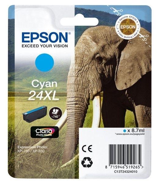 Epson Singlepack cyan 24XL Claria T2432
