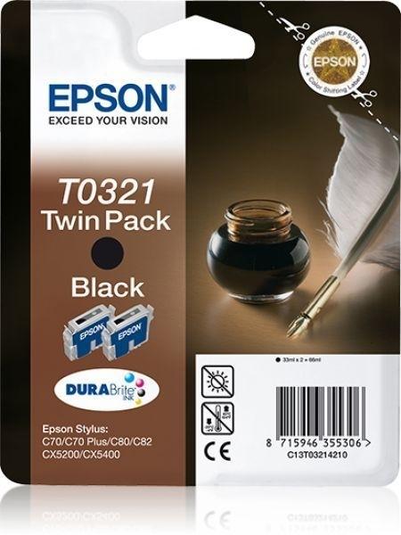 Epson T0321 Twin Pack - 2er-Pack - schwarz