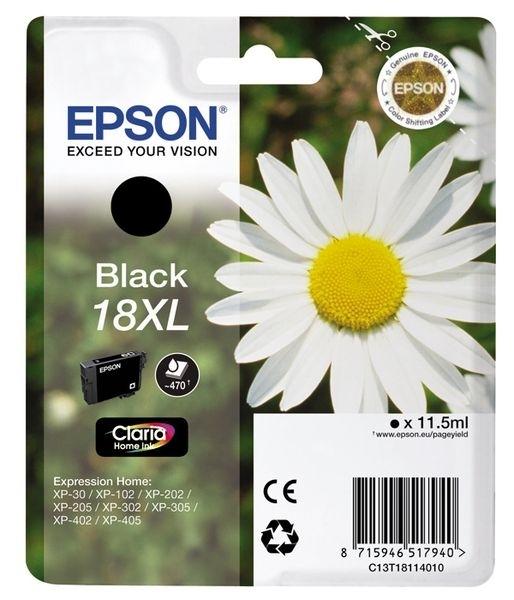 Epson Tinte schwarz 18XL Claria Home Ink T1811