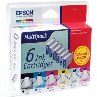 Epson Tintenpatrone Multipack (c,m,y,lc,lm,bk), T5