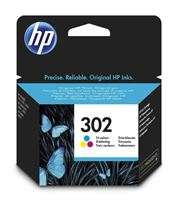 HP 302 original Tinte cyan, magenta, gelb - F6U65AE
