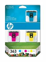 HP 363 original 3er-Pack Tinte cyan, magenta, gelb - CB333EE