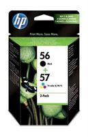 HP 56 / 57 original 2er-Pack Tinte schwarz, cyan, magenta, gelb - SA342AE