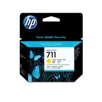HP 711 original 3er-Pack Tinte gelb - CZ136A