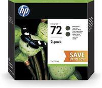 HP 72 original 2er-Pack Tinte matt-schwarz - P2V33A